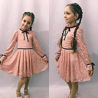 Детское нарядное гипюровое платье, фото 1