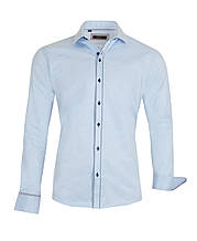 Рубашка мужская Russo голубая