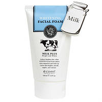 Молочная пенка для умывания с отбеливающим эффектом Scentio Milk Plus Whitening Q10 Facial Foam