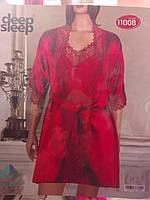 Женский набор халат + ночнушка