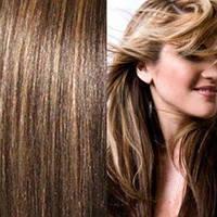 Набор натуральных волос на клипсах 52 см. Оттенок №4-27. Масса: 130 грамм.