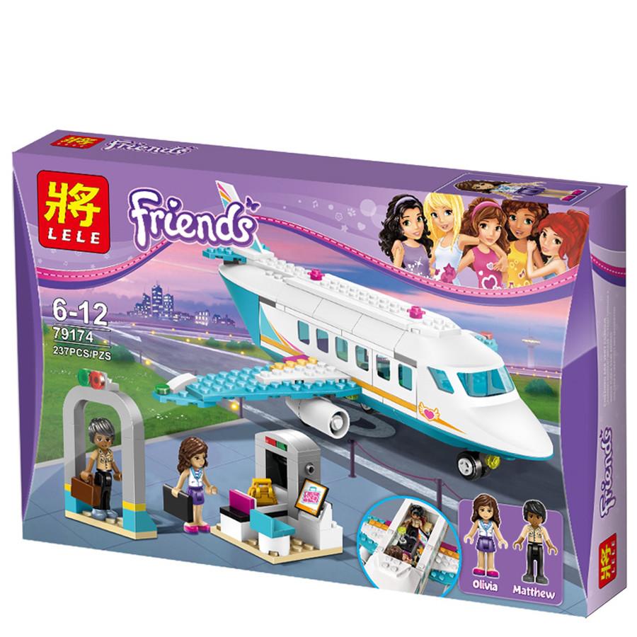 """Конструктор Lele 79174 Friends """"Приватный самолет"""" (реплика Lego) 237 дет"""