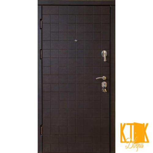 """Двері вхідні """"Каскад"""" класу VIP (венге світлий і темний)"""