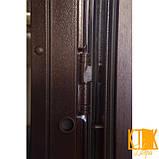 """Двері вхідні """"Каскад"""" класу VIP (венге світлий і темний), фото 3"""