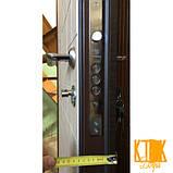 """Двері вхідні """"Каскад"""" класу VIP (венге світлий і темний), фото 4"""