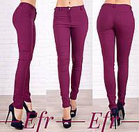 Женские джинсы из стрейч-джинса в расцветках