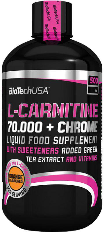 Жиросжигатель BioTech L-Carnitine 70000+Chrome 500 ml