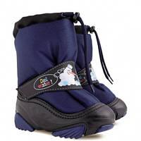 Дутики SNOWMEN 4010c (синий) 20-21