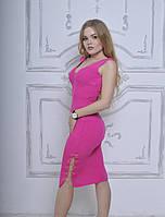 Стильное платье с цепочкой в розовом цвете ( АК-016 )