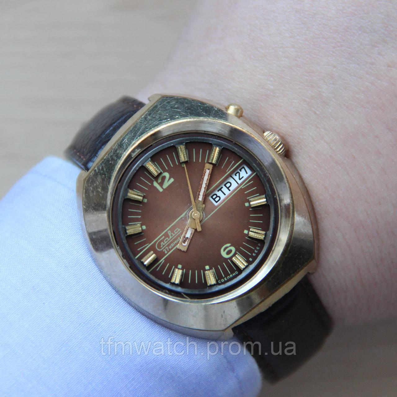 54b0b7c5a0c5 Слава автоподзавод мужские наручные часы СССР   продажа, цена в ...