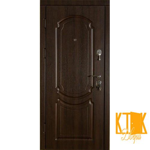 """Входная дверь в квартиру серии """"Классика"""" VIP+ (Темный орех)"""