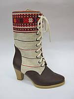 Этно-обувь ботинки женские из конопли демисезонные. Этно-5