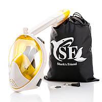 Полнолицевая маска для подводного плавания, снорклинга, с креплением для GoPro, размер L/XL