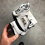 "Кроссовки Fila Disruptor II ""White Black"". Натуральная кожа. Живое фото (Реплика ААА+), фото 5"