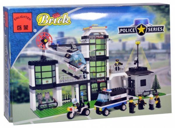 """Конструктор """"Полиция - Полицейский участок"""" 430 дет, Brick 110/208883"""