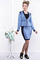 Офисный женский костюм с юбкой, фото 1