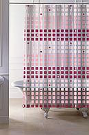 """Штора в ванную 120 (2 ч) x 200 см """"Paradise"""", цвет красный"""