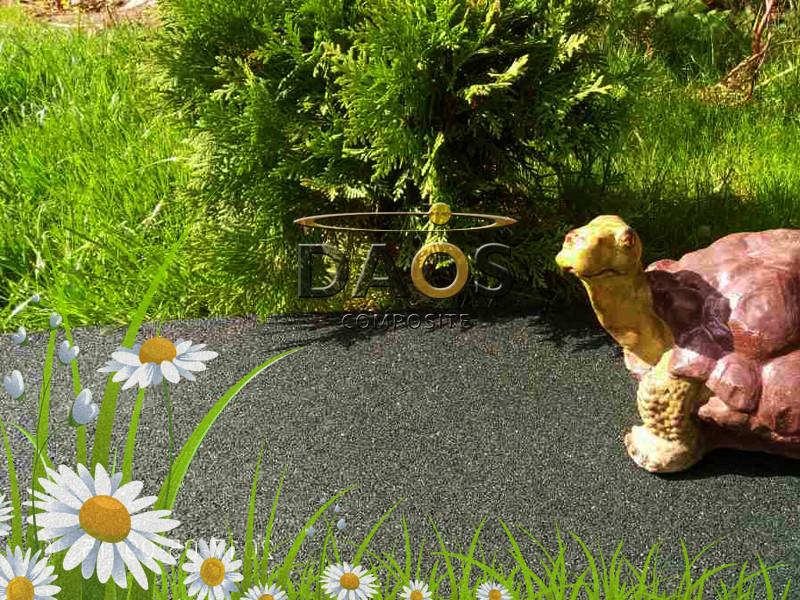 Резиновая плитка  для дачи и сада (толщина 20 мм, размеры 1000 на 1000 мм) - ДАОС КОМПОЗИТ в Харькове