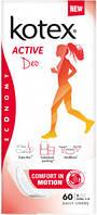 Ежедневные гигиенические прокладки Kotex Active Део Эсктра Тонкие 60 шт
