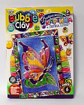 Витражная картина из пластилина Bubble Clay Бабочка ВВС-02-05 Danko-Toys Украина