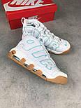 """Кроссовки Nike Air More Uptempo '96 QS """"White/Gum"""". Живое фото (Реплика ААА+), фото 5"""