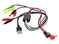 Комплект кабелів до лабораторних блоків живлення 7 закінчень + USB