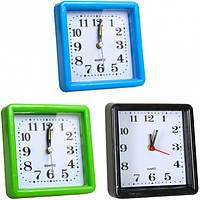 Настольные часы - будильник 10×10×3 см 924