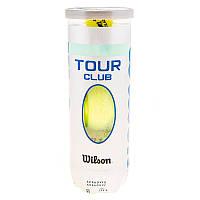 Мяч теннисный Wilson Tour Club, серый