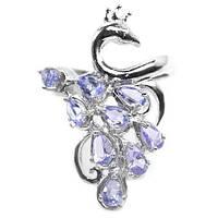 Серебрянок кольцо с танзанитом