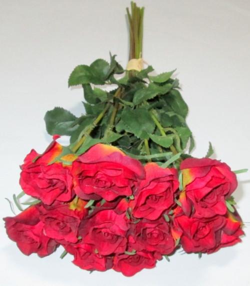 Искусственная роза 42 см, бордовая