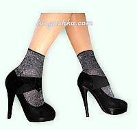 Блестящие женские носки с люрексом