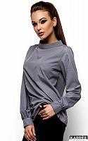 Хлопковая рубашка Шарлотт серый (S,M,L)