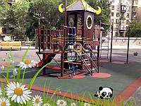 Резиновое напольное покрытие для детской площадки. Резиновые маты.10 мм.Упрочненные.