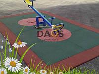 Покрытие из резиновой крошки для детских площадок 500-500мм.