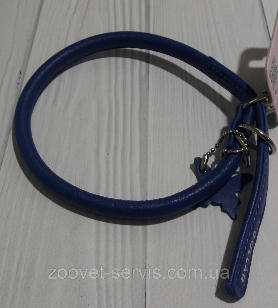 Кожаный ошейник для собакCollar Glamour круглый 3506