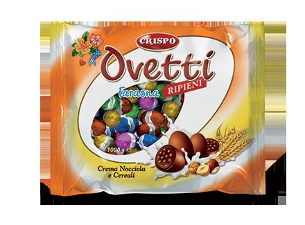Шоколадные Пасхальные яйца Crispo Ovetti 1кг Италия