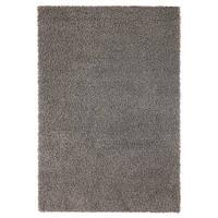 ХАМПЭН Ковер, длинный ворс, серый, 133x195 см, 70313007, IKEA, ИКЕА, HAMPEN