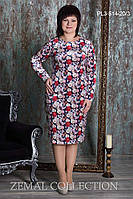 Платье большого размера  ПЛ3-514 р.52-58, фото 1