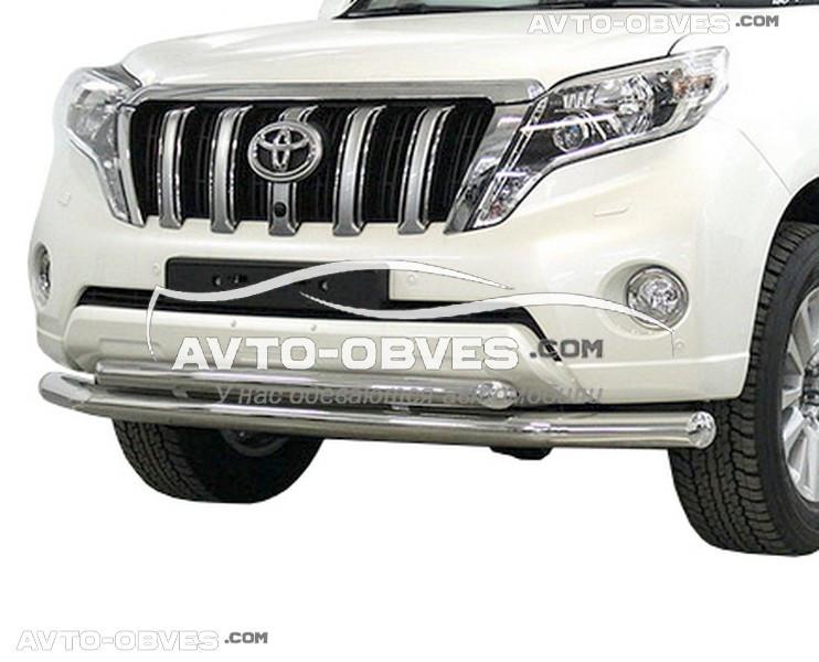 Защитная дуга двойная для Toyota Prado 150 2014-2018
