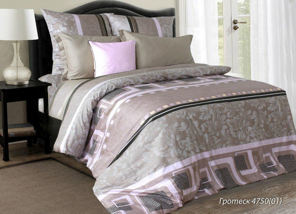 Комплект постельного белья двуспальный ГРОТЕСК (нав. 70*70)