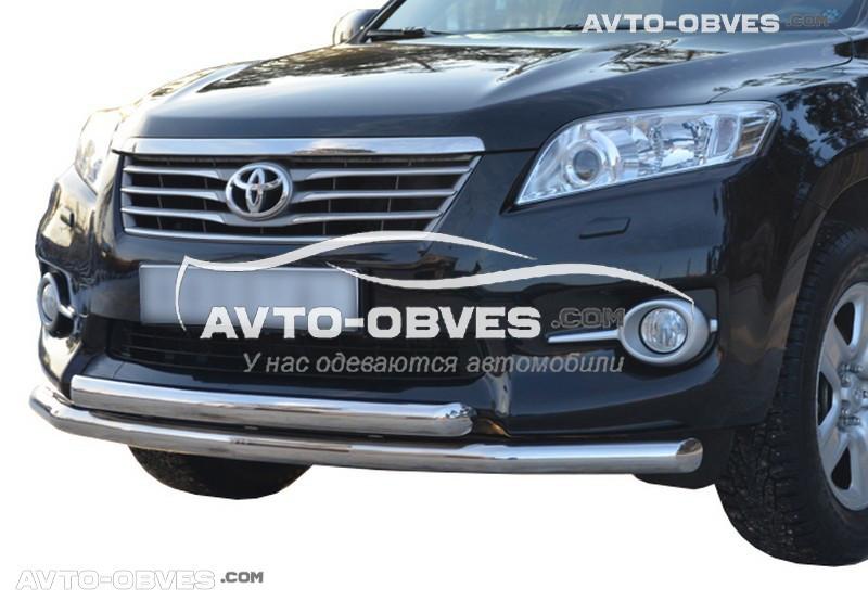 Кенгурин двойной ус для Toyota Rav4 (п.к. ТТК)