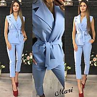 Женский стильный костюм: жилетка и брюки. Много цветов
