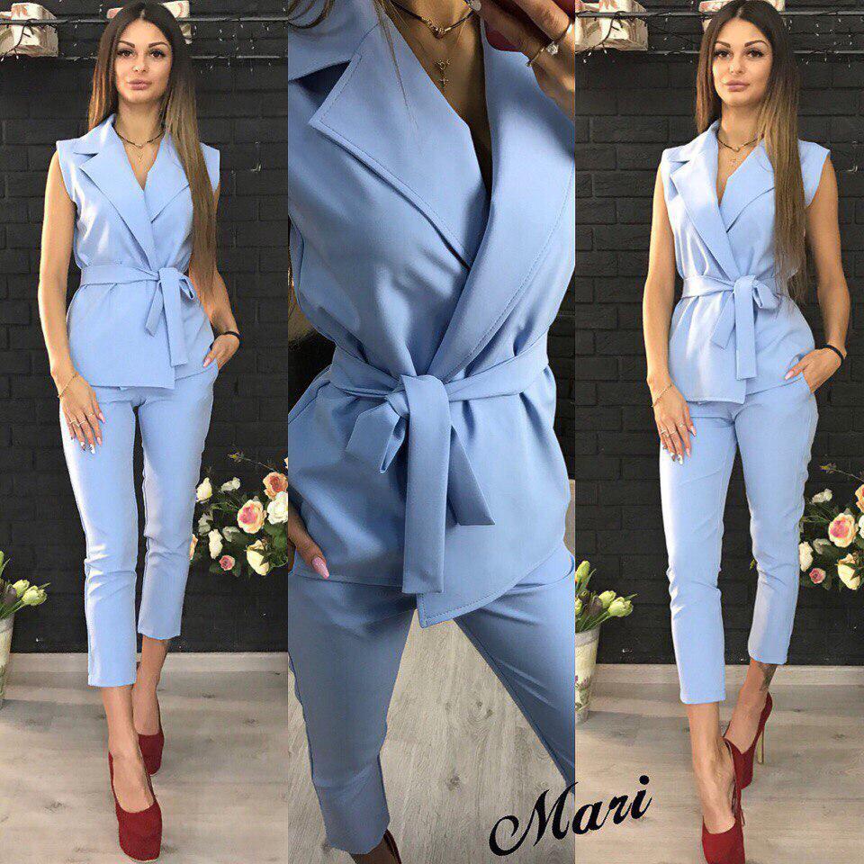 df73703e6ba Женский стильный костюм  жилетка и брюки. Много цветов - Интернет-магазин  одежды