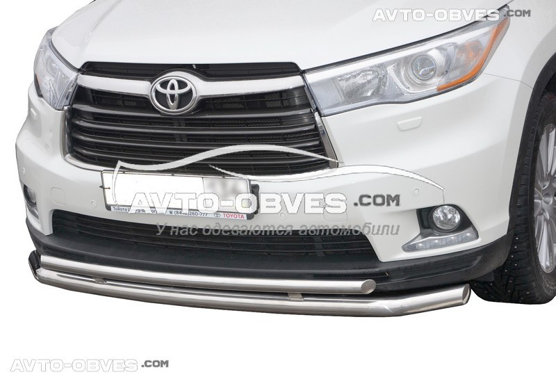 Кенгурятник подвійний вус Toyota Highlander