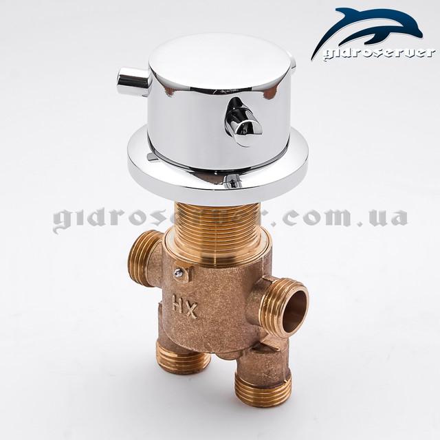 Встраиваемый смеситель переключатель для гидромассажной ванны, джакузи J - 7032 фотография изделия без ручки.