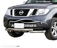 Защита переднего бампера модельная для Nissan Pathfinder 2005-2010