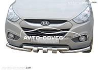 Защита переднего бампера модельная для Hyundai ix35