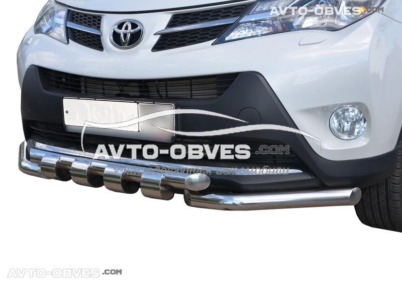Защита бампера модельная для Toyota Rav4 2013 - 2016