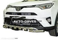 Защита бампера модельная Toyota Rav4  2016-…