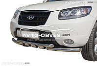 Защита переднего бампера модельная для Hyundai Santa Fe 2010-2012